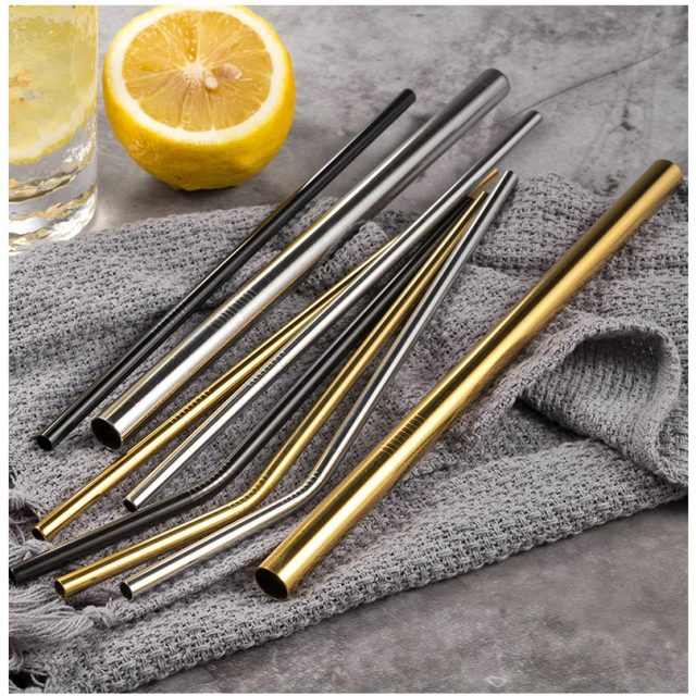 304 Stainless Steel Straws Set with Case
