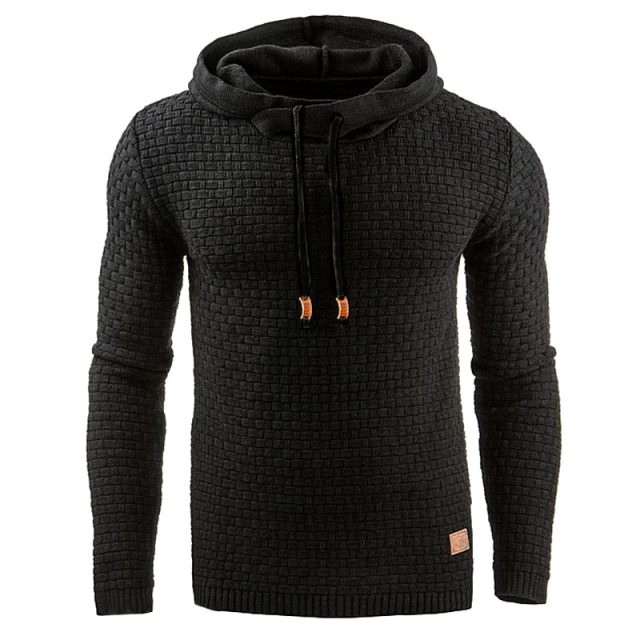 Men's Casual Knitted Texture Hoodie