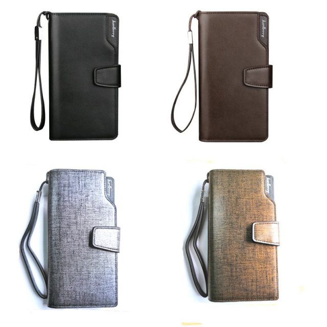 Men's Leather Zipper Wallet