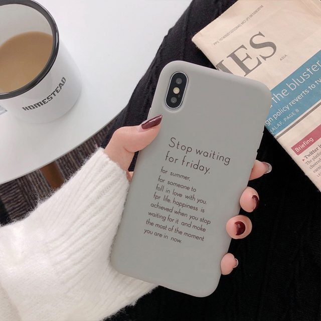 Pastel Quote Printed Soft TPU Case for iPhone