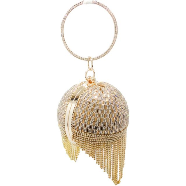 Women's Party Bag with Diamonds and Tassel