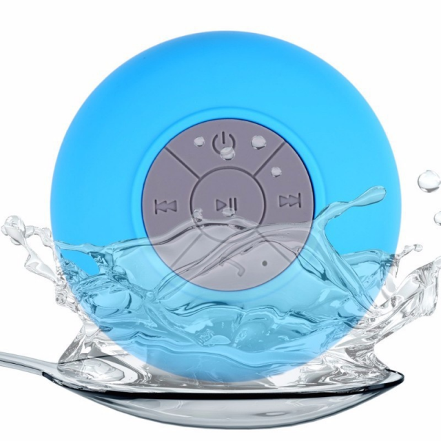 Waterproof Wireless Portable Speaker with Suction Cup Holder