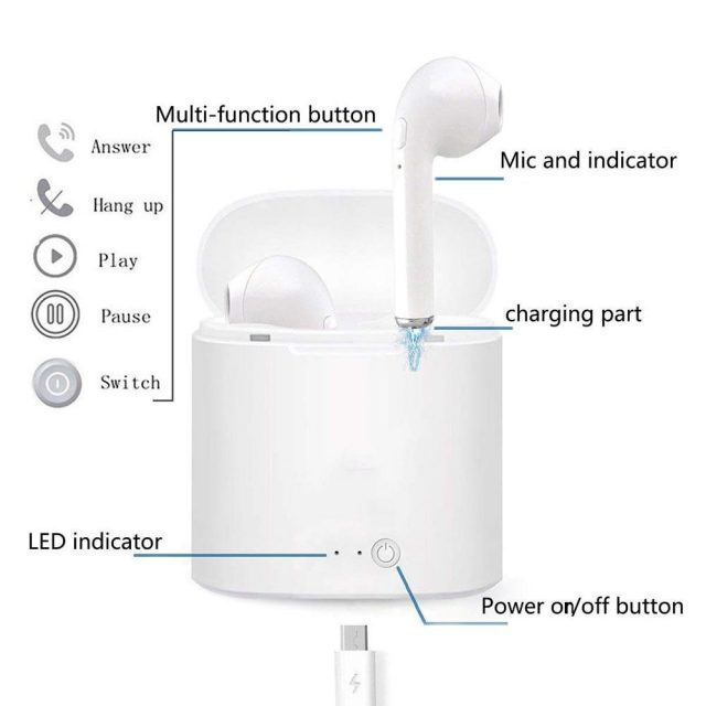 Wireless Mini Earbuds with Printed Charging Box