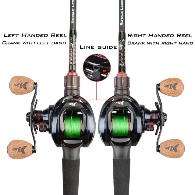 Bait Casting Reel with Dual Brake System for Fishing