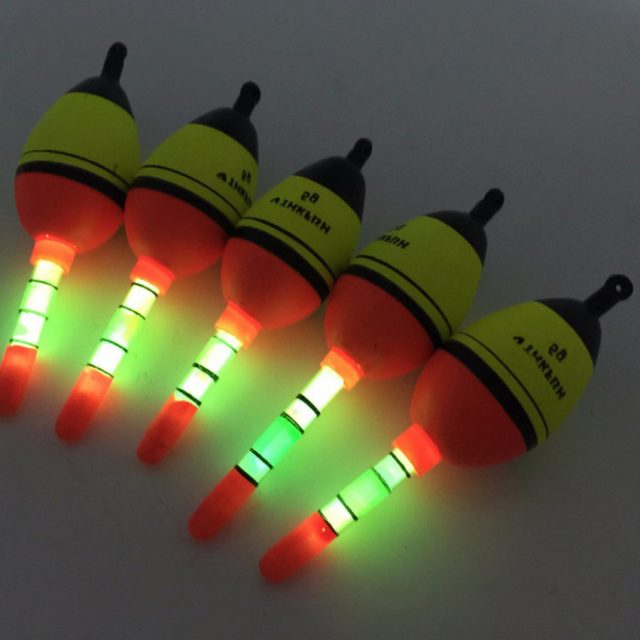 Mini Fluorescent Fishing Floats Pair