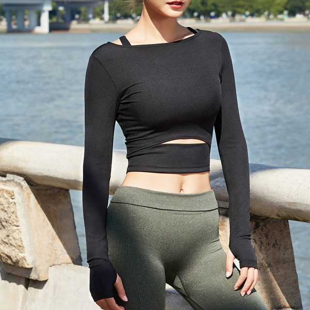 Women's Elastic Gym Shirt