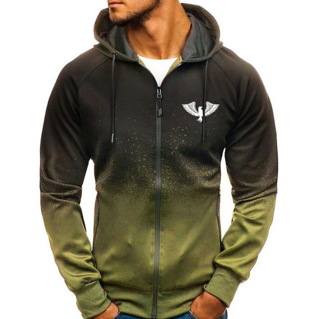 Men's Sport Gradient Hooded Jacket