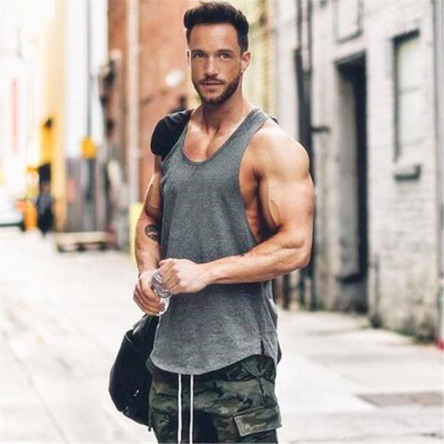 Men's Solid Color Loose Style Tank Top