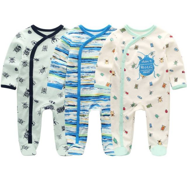 Summer Baby's Colorful Cotton Rompers