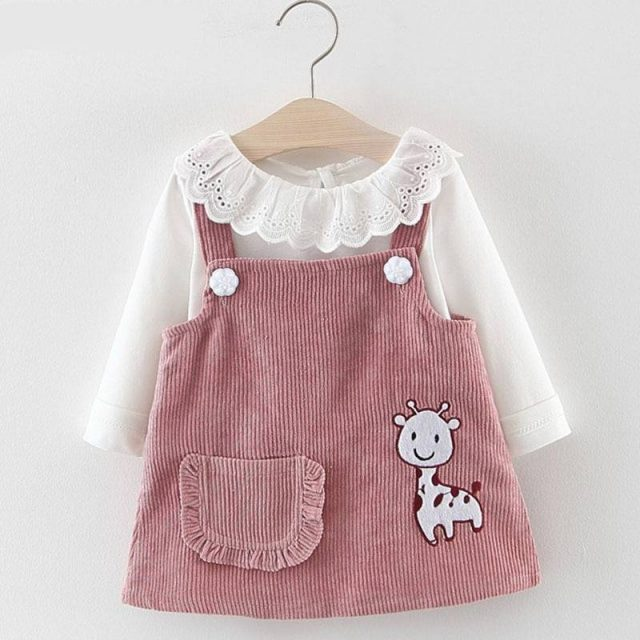 Baby Girl's Spring Dress with Long Sleeve Top