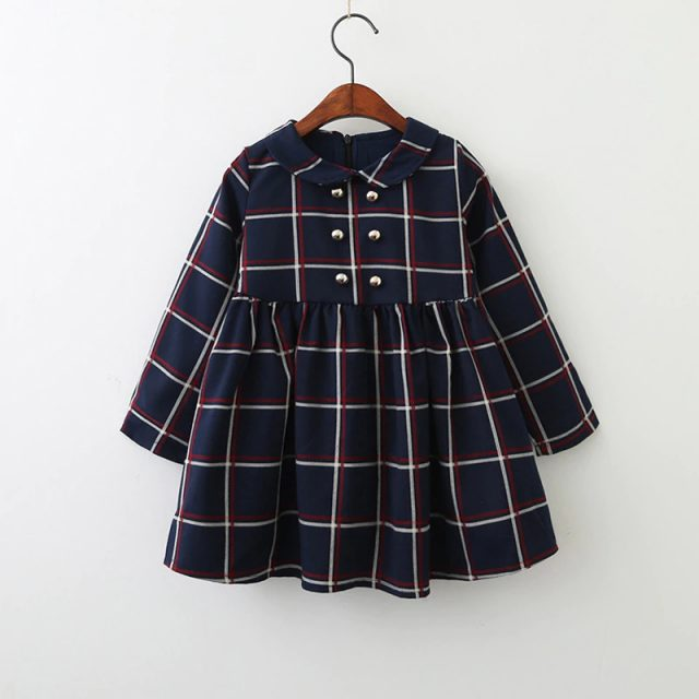 Girls' Casual Short Cotton Dress