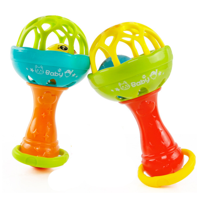 Baby's Plastic Colorful Funny Rattle