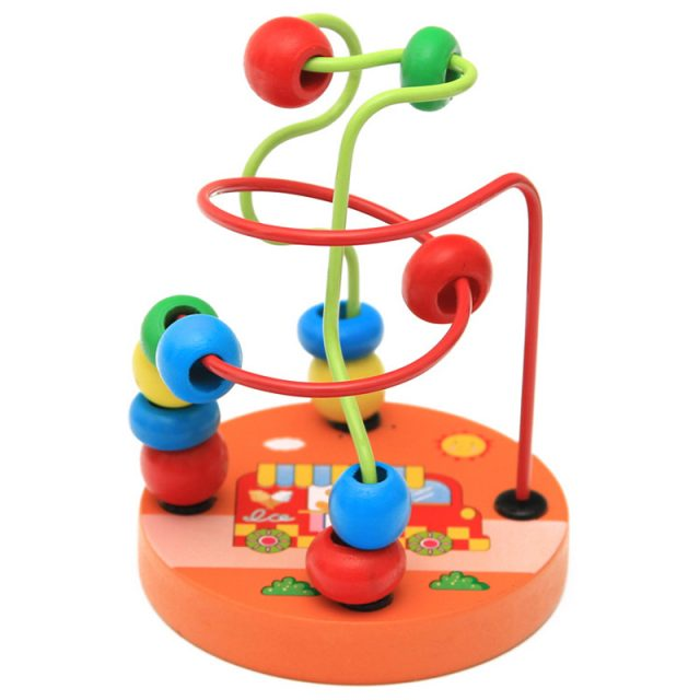 Colorful Wooden Beads Maze Toy
