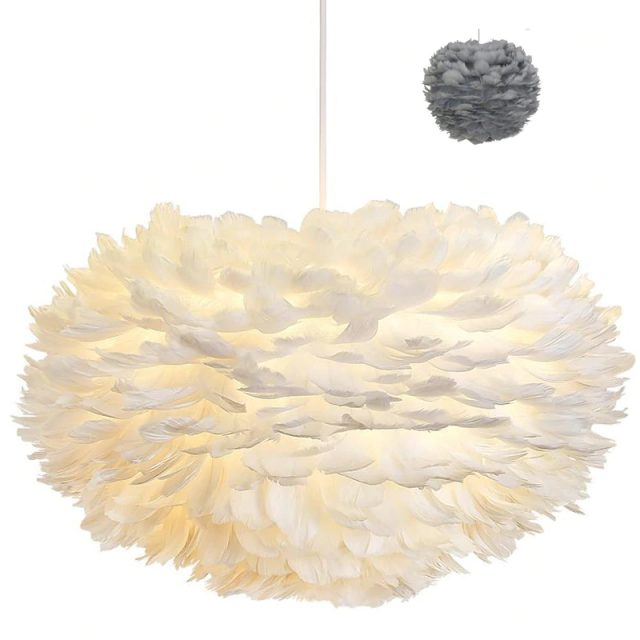 Creative Dimmable Feathered Pendant Light