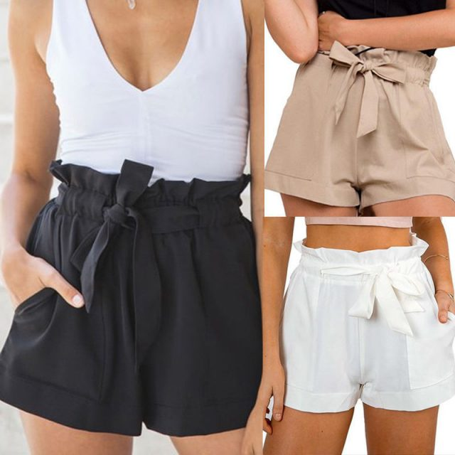 Women's Casual Style High Waist Shorts