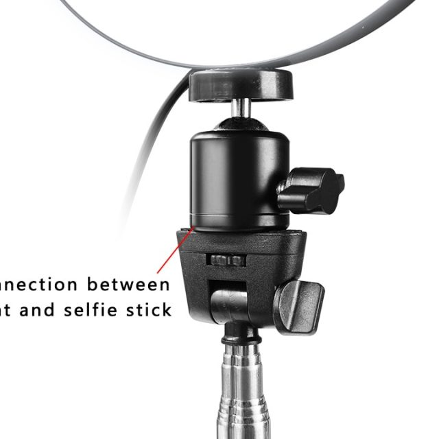 Photography Dimmable LED Selfie Ring with Phone Holder