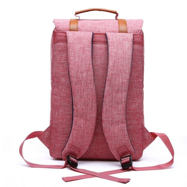 Preppy Style Casual Canvas Backpack