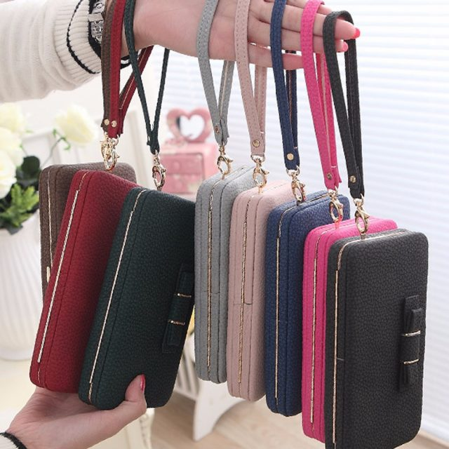 Women's Leather Wallet with Bow