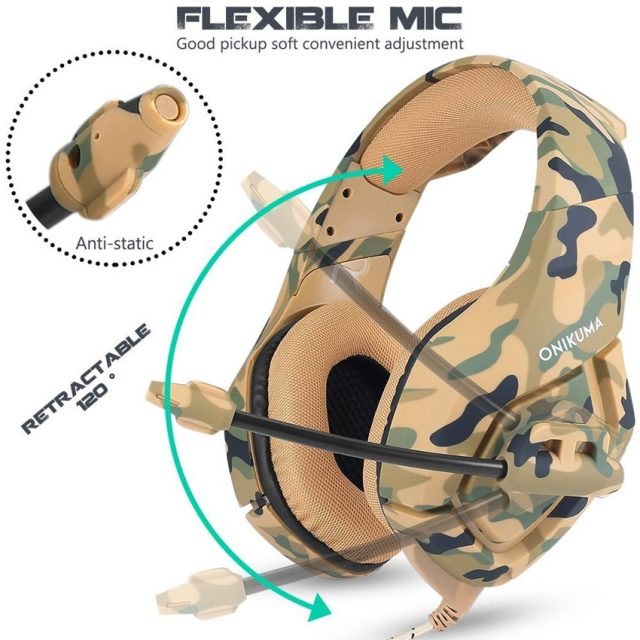 Camouflage Printed Headphones with Microphone