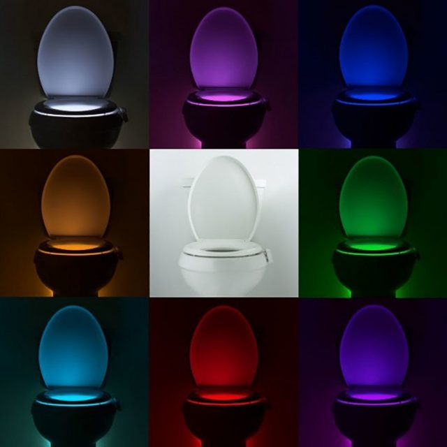 Smart Toilet Seat Motion Sensor Night Light