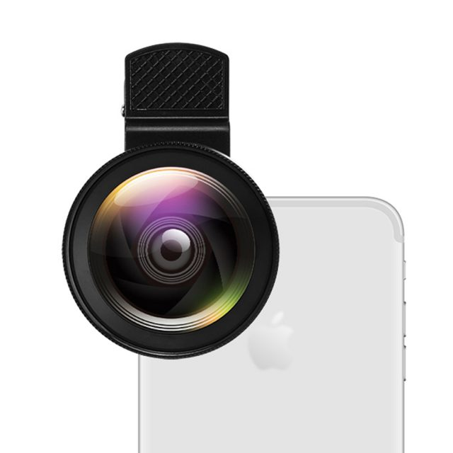 Universal Double Macro and Wide Angle Phone Lens