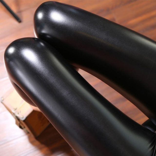 Women's Warm Leather Leggings