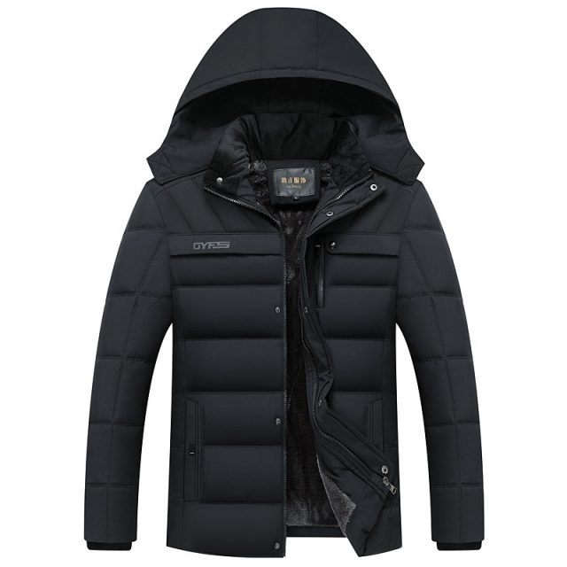 Fashion Winter Padded Fleece Men's Parka Jacket