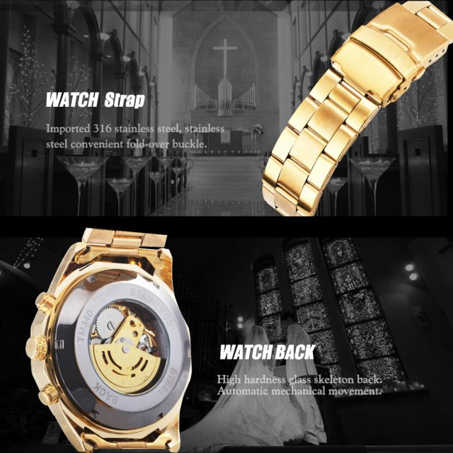 Cool Men's Skeleton Automatic Mechanical Watch