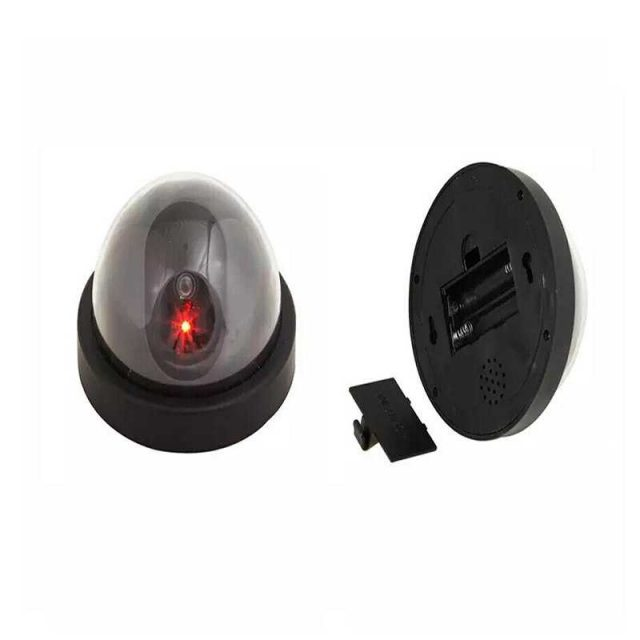 Security Dome Camera with Flashing Red LED Light