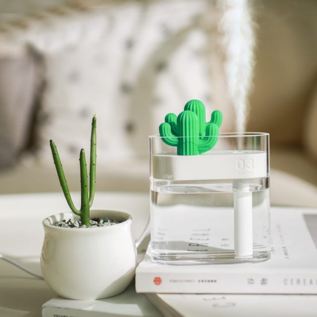 Ultrasonic USB Cactus Shaped Air Humidifier