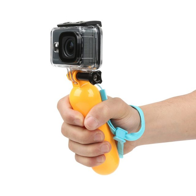 Floating Action Camera Holder with Wrist Strap