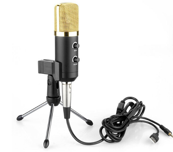 Wired USB Condenser Sound Recording Microphone with Stand