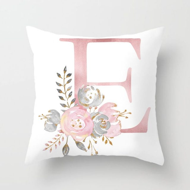English Letters Printed Pillow Case