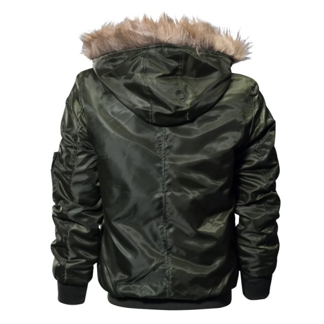 Fashion Winter Thickened Hooded Men's Coat
