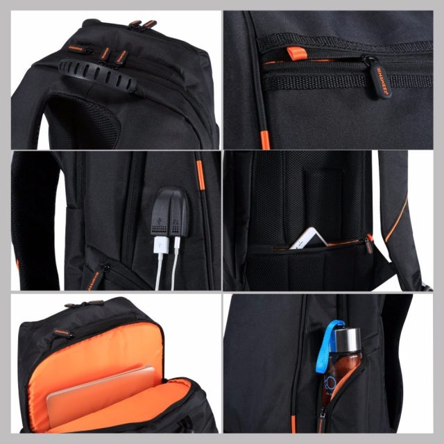 Multi-function Breathable Solar Panel Power Backpack