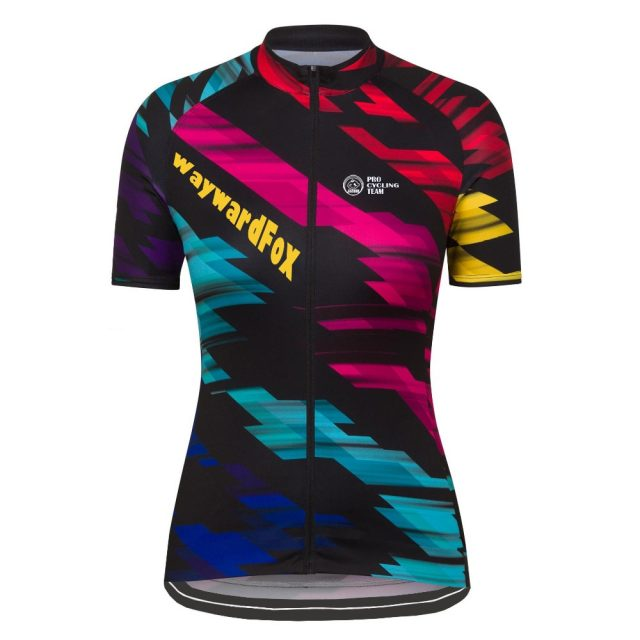 Women's Colorful Short Sleeve Cycling Jersey