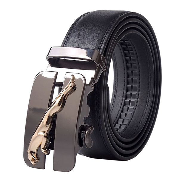 Automatic Buckle Cowhide Leather Belt