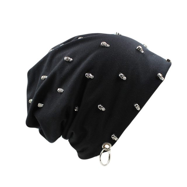 Unisex Hat with Skull Charms