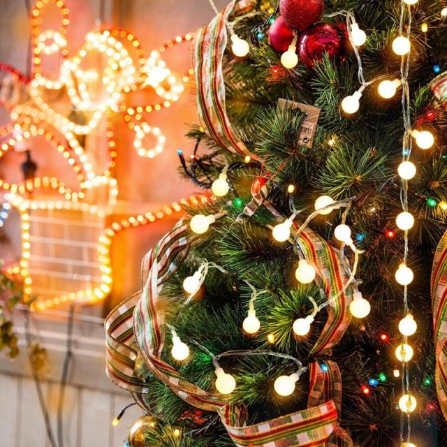 Waterproof Round String Light for Christmas Tree