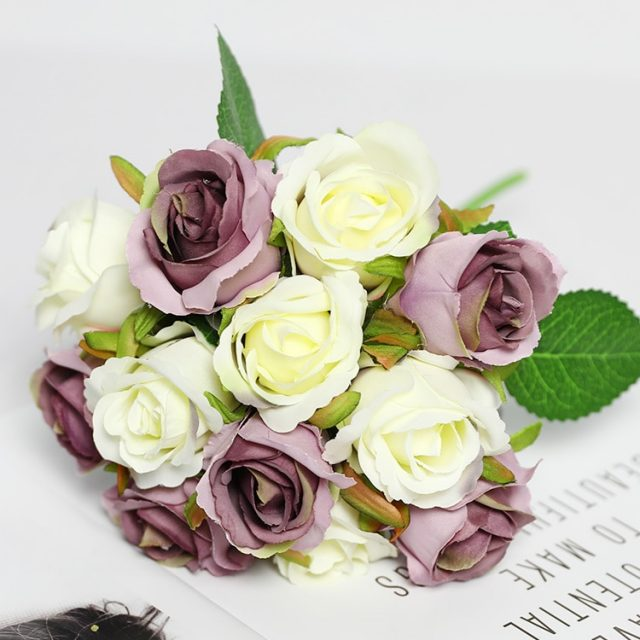 Artificial Rose Flowers for Party 12 Pcs Set