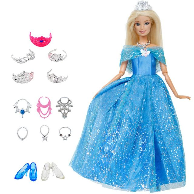 Barbie Princess in Dress Doll Toy for Kids