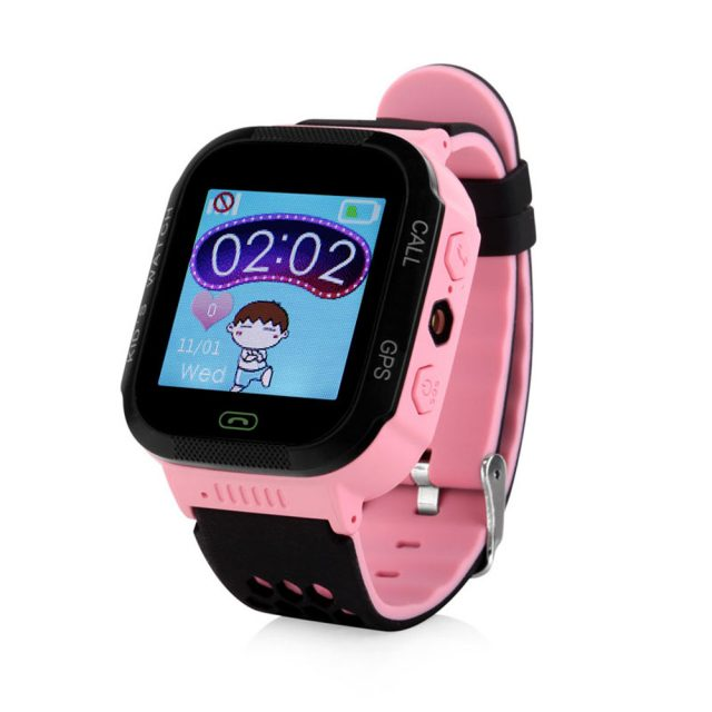 Touch Screen GPS Tracker Watches with Flashlight for Kids