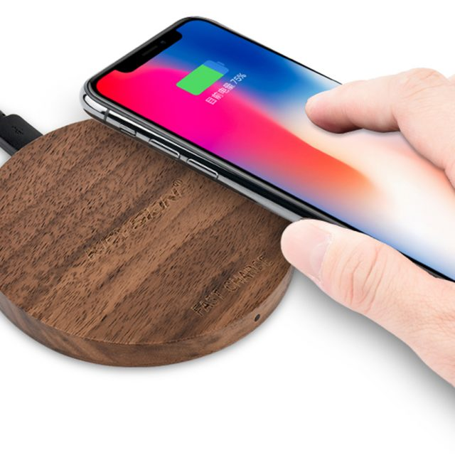 Wireless Charger in Wooden Case