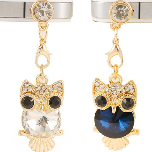 Cute Crystal Owl Phone Dust Plug