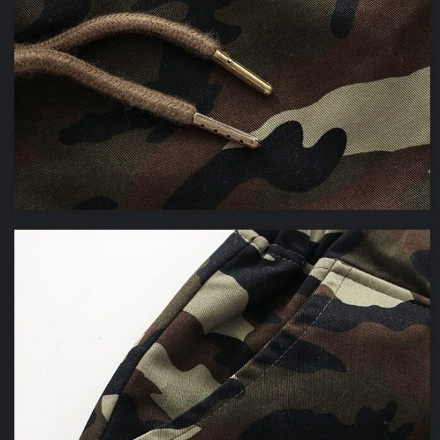 Jogger Pants for Men with Camouflage Prints