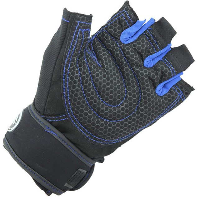 Men's Half Finger Fitness Gloves with Silicone Pads
