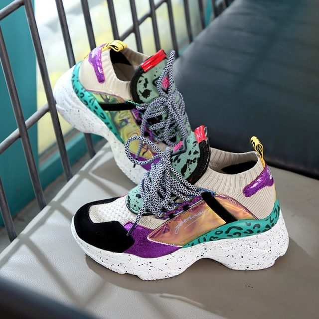 Women's Trendy Chunky Style Sneakers