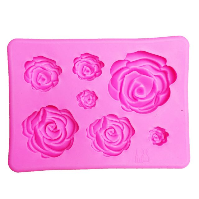 Charming Roses Shaped Eco-Friendly Silicone Baking Mold