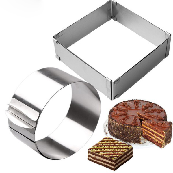 Professional Adjustable Eco-Friendly Stainless Steel Cake Molds Set