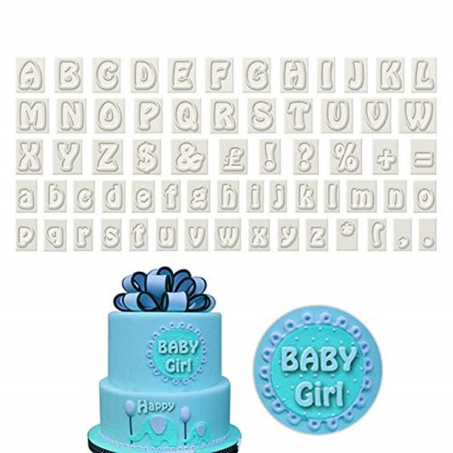 Uppercase and Lowercase Alphabet Cookie Cutters Set